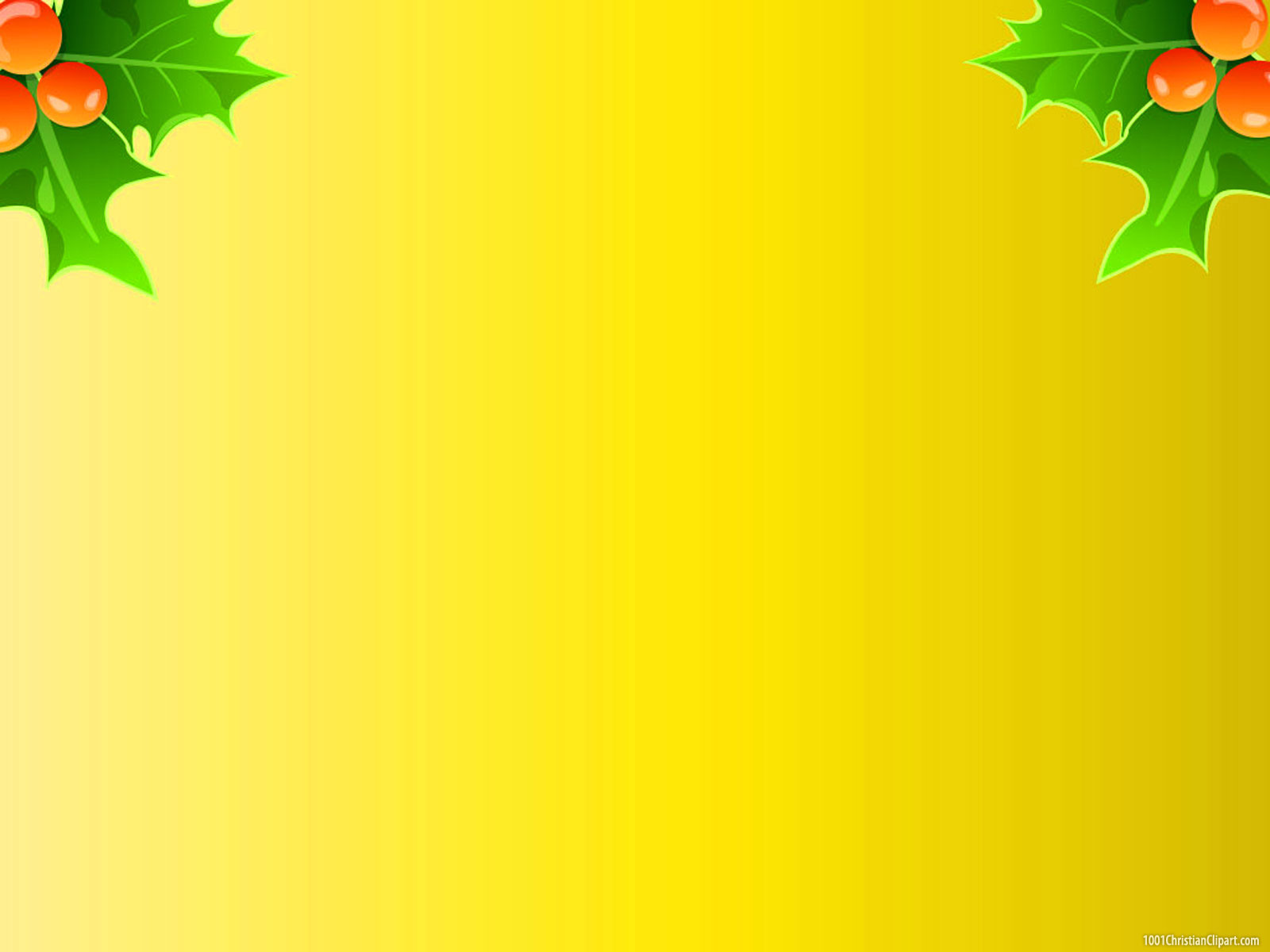 Christmas Leaves Background