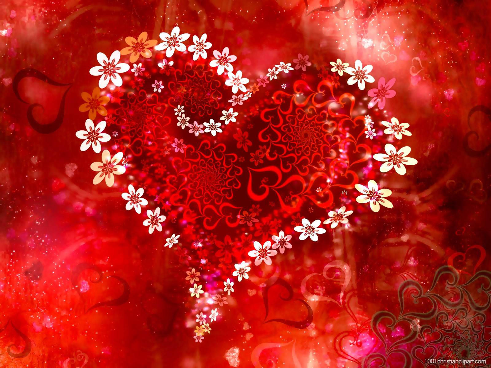 Beautiful Red Heart Valentine Background