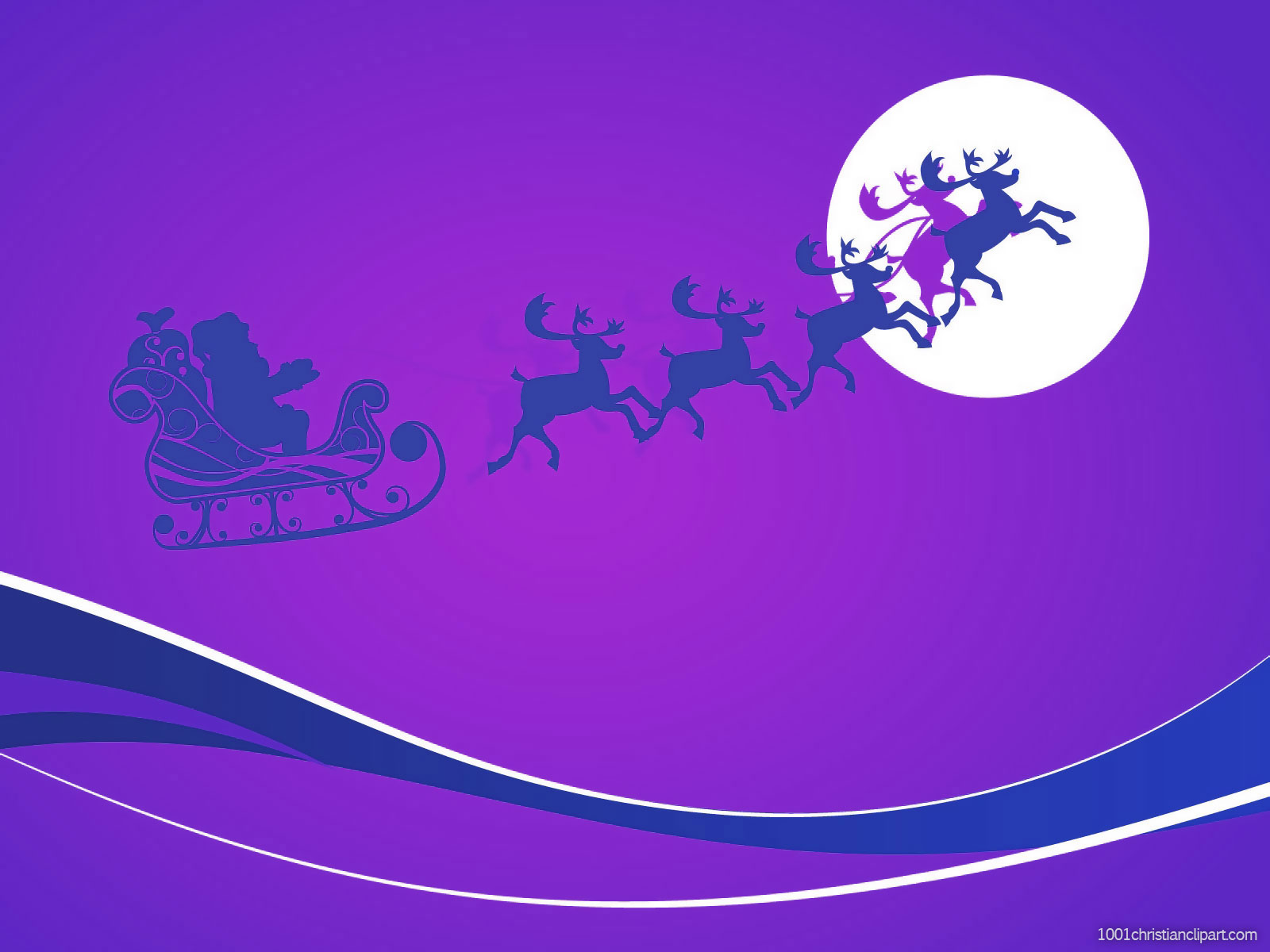 Santa Claus Christmas PowerPoint Background