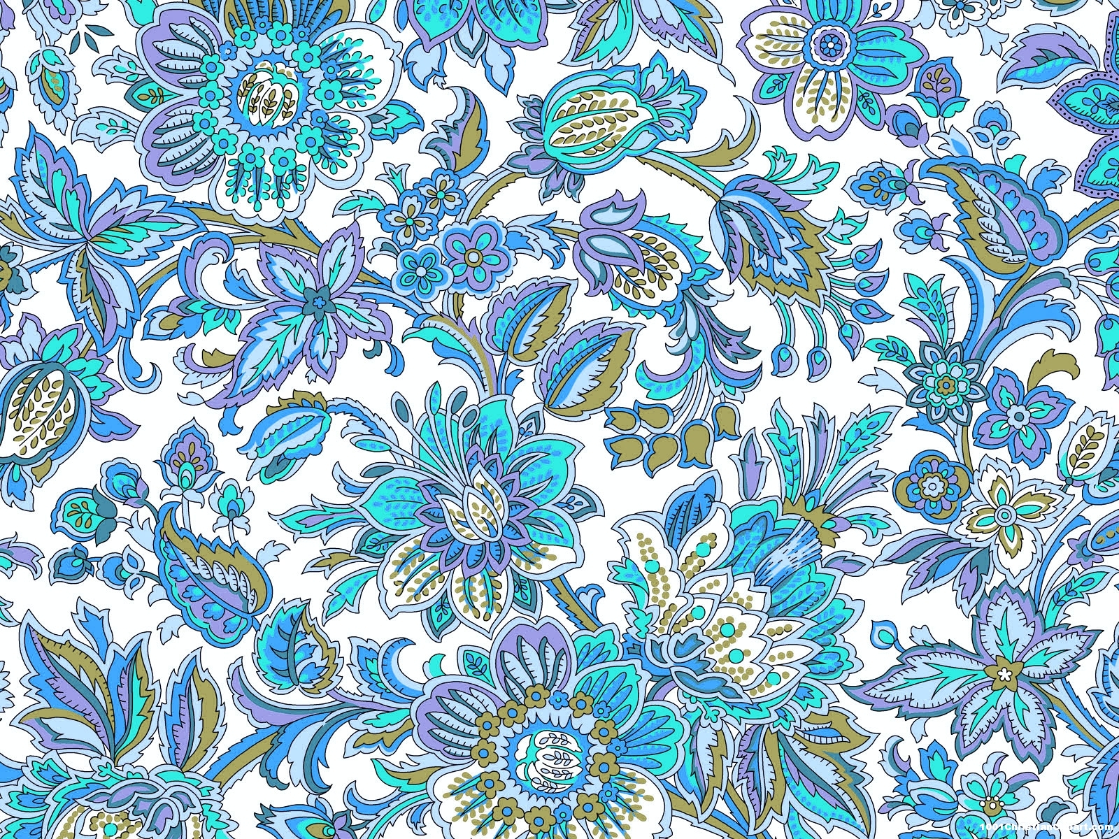 Blue Batik Background