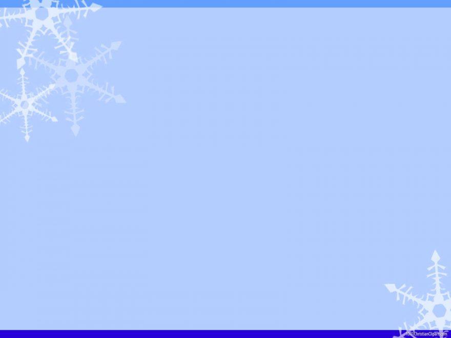 Christmas Snow Border Background