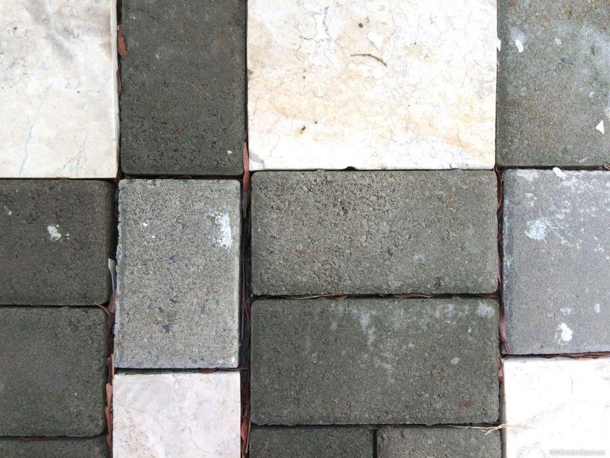 Brick Tile Flooring Outdoor Background