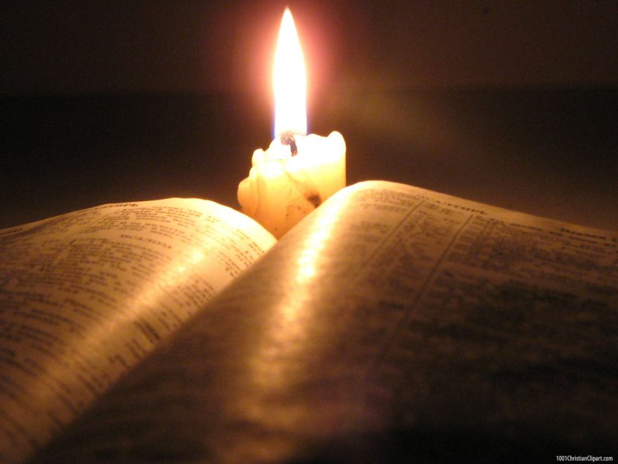 Bible And Candle Powerpoint Background