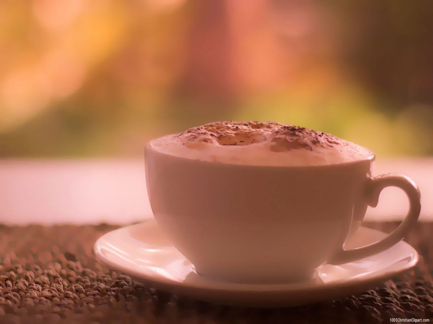 A Cup of Coffee Presentation Background