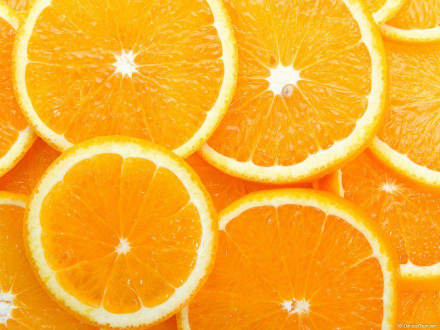 Fresh Orange Background for Powerpoint