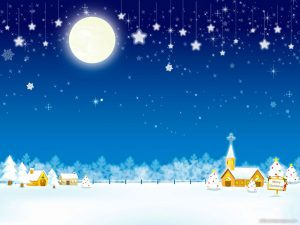 Beautiful Christmas Snow Background