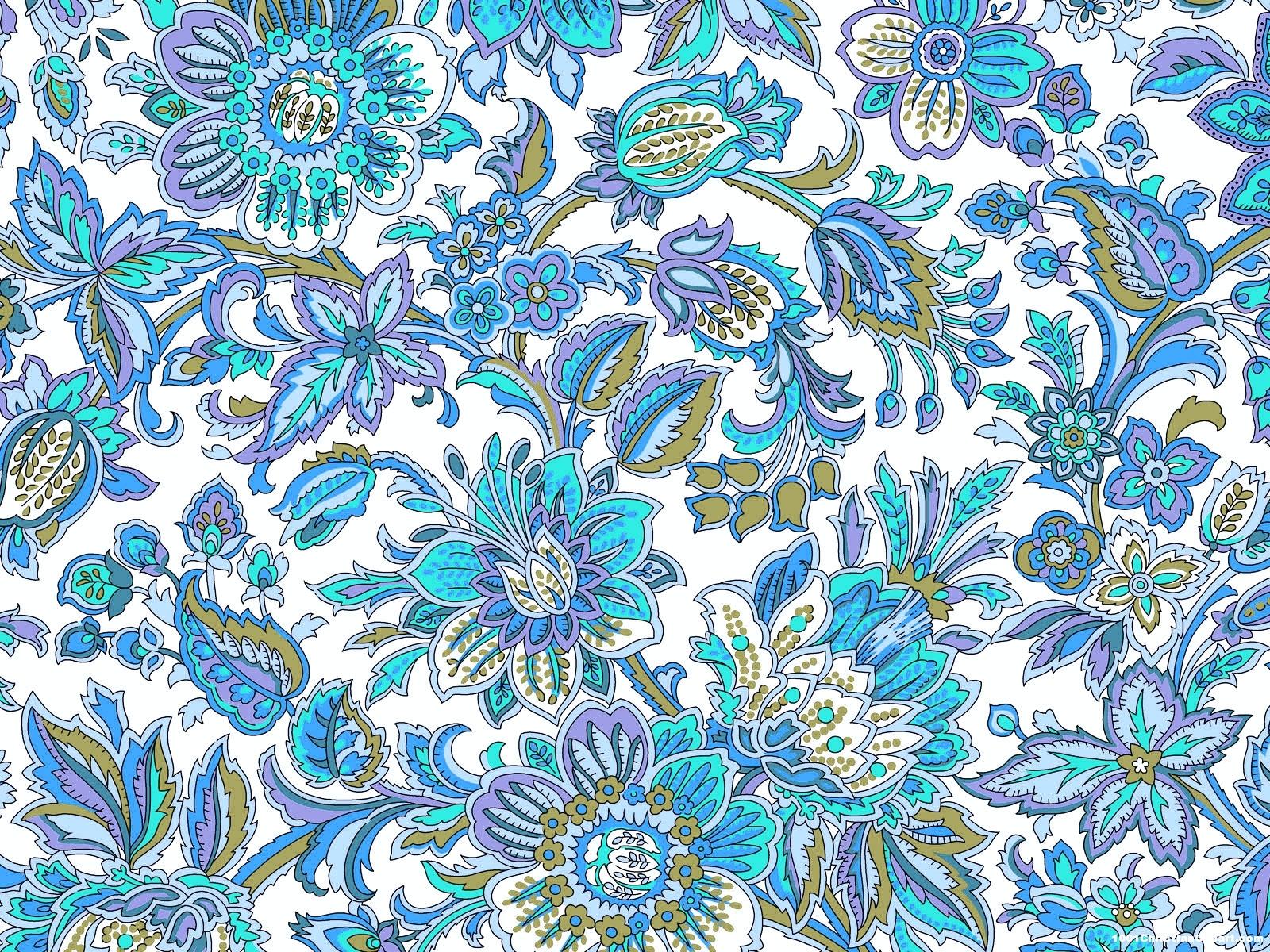Blue Batik Background